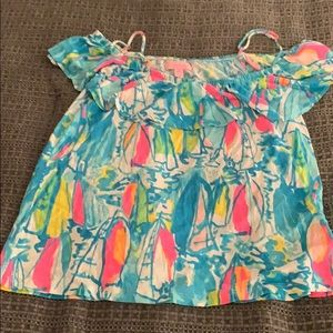 Lilly Pulitzer Off the Shoulder Shirt